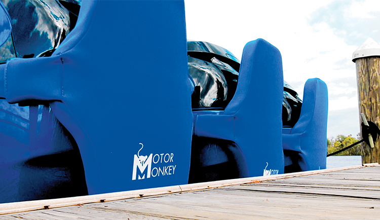 Motor Monkey stern to docking