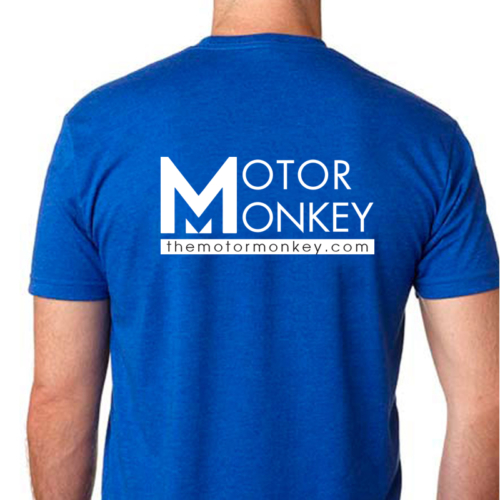 Motor Monkey Blue T-shirt- Back