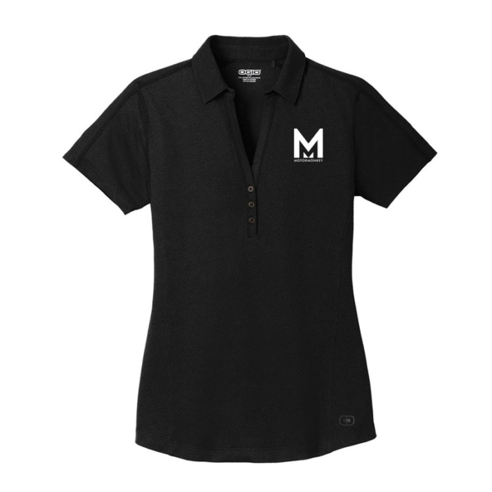 Motor Monkey- OGIO Women's Blacktop Onyx Polo