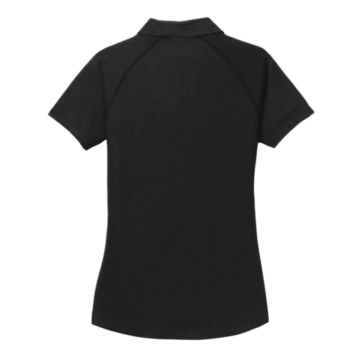 Motor Monkey- OGIO Women's Blacktop Onyx Polo- Back