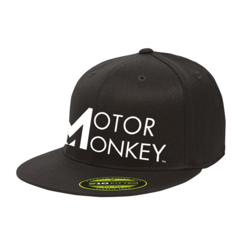 Motor Monkey flat billed cap- black
